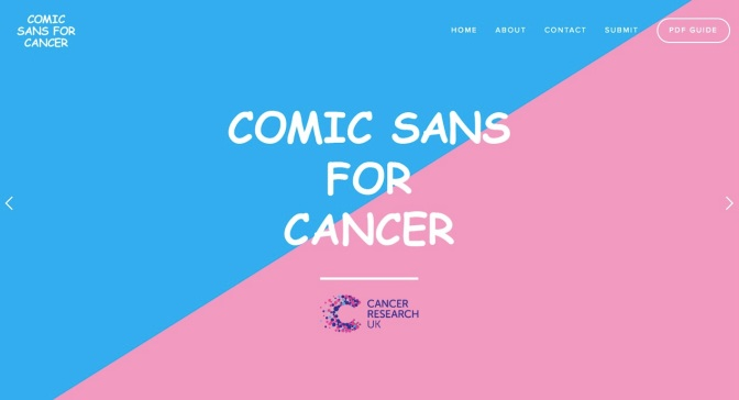 Comic Sans for Cancer